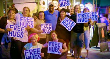 Free Hugs particiapnts and LEWA members 2010